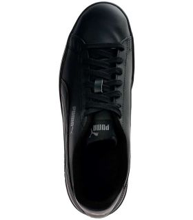 Puma Smash v2 Noir en Cuir Chaussures Puma Casual Homme Lifestyle