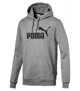 Puma ESS Hoody FL Big Logo Grey Puma Hoodies Lifestyle Lifestyle