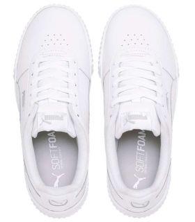 Puma Carina L Blanc Puma Chaussures de Femmes de mode de Vie Décontracté Tailles: 37, 37,5, 38, 38,5, 39, 40, 36, 41; Couleur: