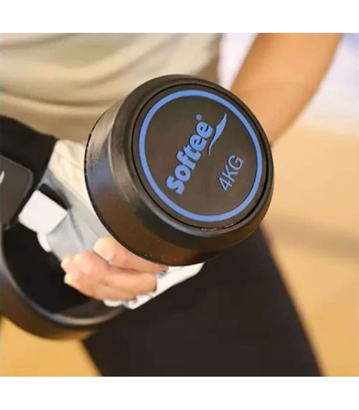 Pesas - Tobilleras Lastradas - Softee Mancuerna Modern 4 Kg negro Fitness