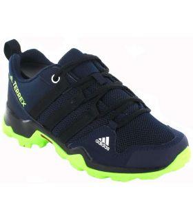 Trekking Boy Sneakers-Adidas Terrex AX2R Blue Hiking Calzado Montana