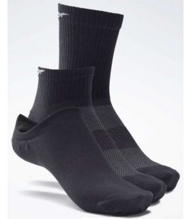 Calcetines Running-Reebok Calcetines Active Foundation Pack 3 noir Zapatillas Running