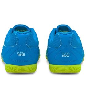 Puma Truco Jr Puma Botas de Futbol Junior Botas de Futbol Tallas: 33, 34, 35, 36, 37, 38; Color: azul