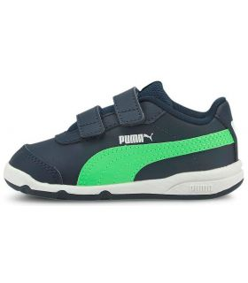 Puma Stepfleex 2 SL Verde Puma Calzado Casual Junior Lifestyle Tallas: 22, 23, 24, 25, 26, 27; Color: azul marino
