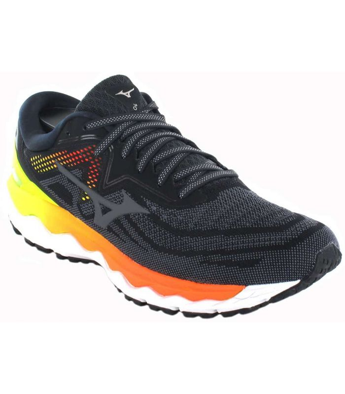 Mizuno Wave Sky 4 Black - Mens Running Shoes