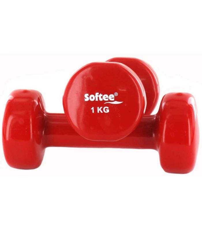 Pesas - Tobilleras Lastradas - Pesas Vinillo 2x1 Kg rojo Fitness