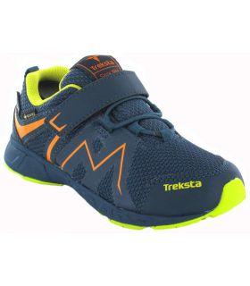 Zapatillas Trekking Niño - Treksta Speed Low Velcro Azul Gore-Tex azul marino Calzado Montaña