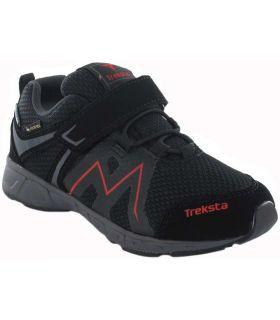 Zapatillas Trekking Niño - Treksta Speed Low Velcro Negro Gore-Tex negro Calzado Montaña