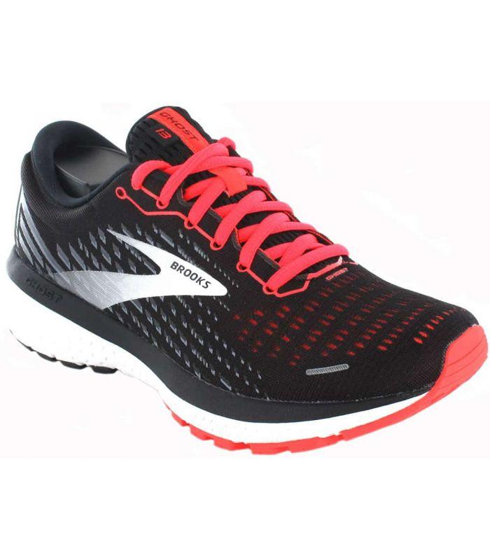 Running Woman Sneakers-Brooks Ghost 13 W Black Black Sneakers Running