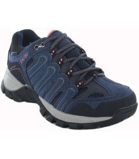 Women's Trekking Sneakers-Hi-Tec Gregal low WP W blue Calzado Montana
