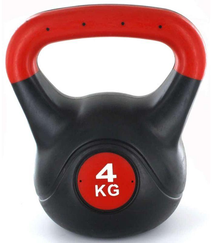 Kettlebell - Pesas Rusas - Kettlebell PVC 4 Kg negro Fitness