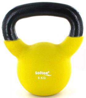 Pesas - Tobilleras Lastradas - Kettlebell Neopreno 8 Kg amarillo Fitness