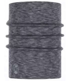 Buff Heavyweight Merino Buff Fog Grey Multistripes - Buff