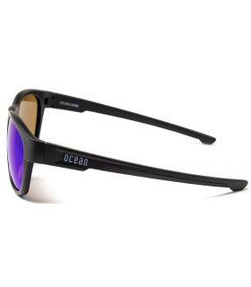 Ocean Goldcoast Matte Black Revo Blue - Sunglasses Casual