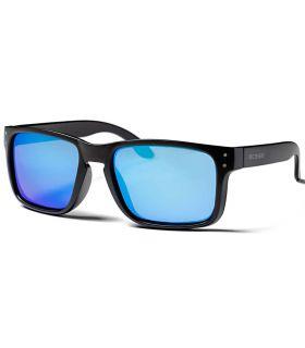 Ocean Blue Moon Matte Black Revo Blue - Sunglasses Casual