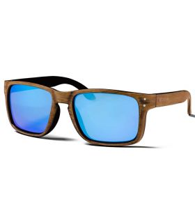 Ocean Blue Moon Wood Revo Blue - Lunettes De Soleil Casual
