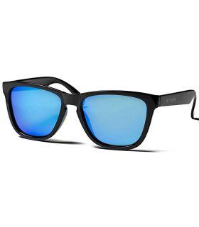 Ocean Sea Shiny Black Revo Blue - Gafas de Sol Casual