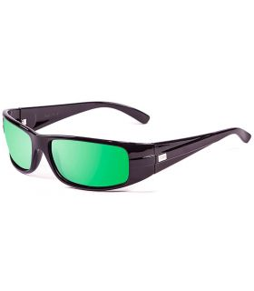 Ocean Zodiac Shiny Black Revo Green - Sunglasses Sport