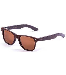 Ocean Beach Wood Dark Brown - Gafas de Sol Casual