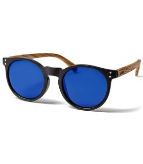 Ocean Lizard Wood Black Brown Blue - Lunettes De Soleil Casual