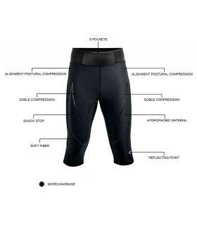 Mallas running - Blueball BB100003 Mallas 3/4 Compresion Bolsillos negro Textil Running