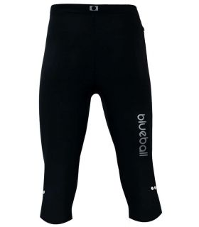 Pantalones técnicos running - Blueball BB100004 Mallas 3/4 Compresion negro Textil Running