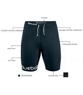 Mallas running - Blueball BB100008 Malla Corta Running Compresion negro Textil Running