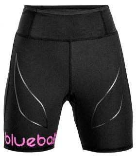 Mallas running - Blueball BB200001 Mallas Cortas con Bolsillo W negro Textil Running