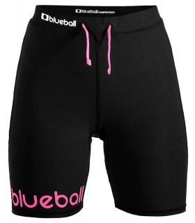 Mallas running - Blueball BB200002 Mallas Cortas con Bolsillo W negro Textil Running