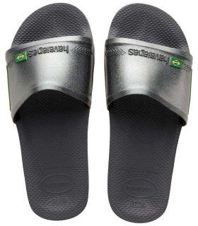 Havaianas Slide Brasil Grafite - Shop Sandals / Flip Flops Women