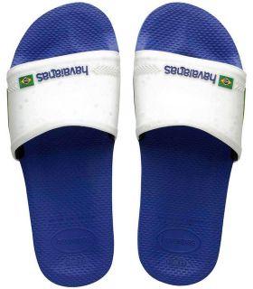 Tienda Sandalias / Chancletas Hombre - Havaianas Slide Brasil Azul azul Sandalias / Chancletas