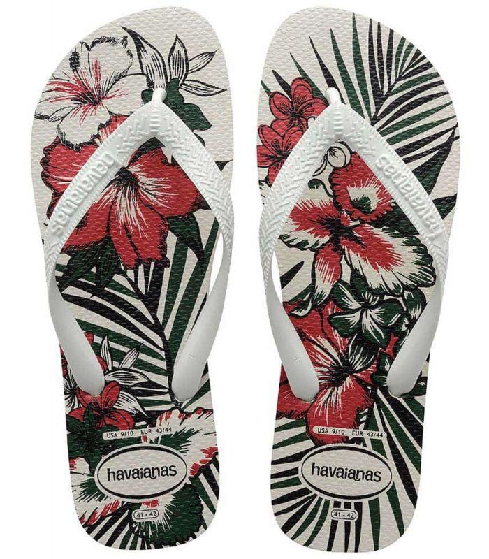 Tienda Sandalias / Chancletas Hombre - Havaianas Aloha blanco Sandalias / Chancletas