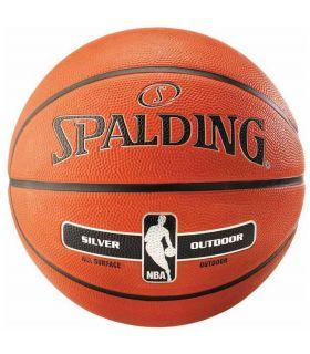 Spalding Balon de basket-ball NBA Silver Outdoor