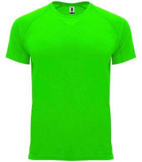 Roly Camiseta Bahrain Verde Fluor - Camisetas técnicas running