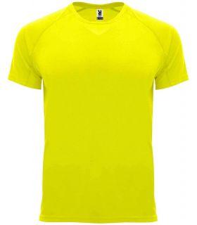 Roly Camiseta Bahrain Amarillo Fluor - Camisetas técnicas running