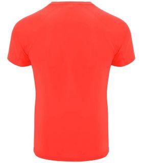 Camisetas técnicas running - Roly Camiseta Bahrain Coral Fluor rojo Textil Running