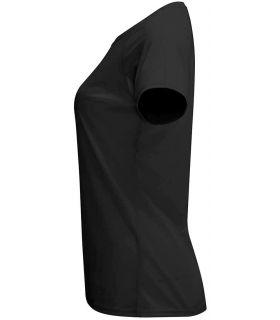 Camisetas técnicas running - Roly Camiseta Bahrain W Negro negro Textil Running