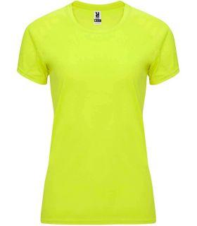 Camisetas técnicas running - Roly Camiseta Bahrain W Amarillo Fluor amarillo Textil Running