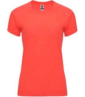 Roly Camiseta Bahrain W Coral Fluor - T-shirts de course