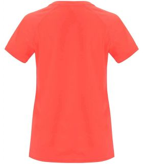 Roly Camiseta Bahrain W Coral Fluor