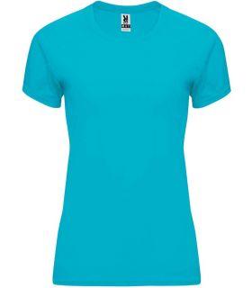 Camisetas técnicas running - Roly Camiseta Bahrain W Turquesa azul Textil Running