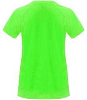 Camisetas técnicas running - Roly Camiseta Bahrain W Verde Fluor pistacho Textil Running