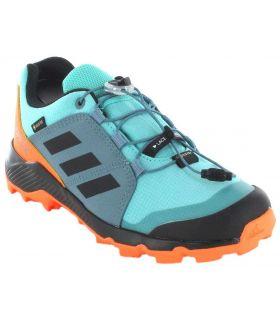 Zapatillas Trekking Niño - Adidas Terrex Gore-Tex K 170 verde Calzado Montaña