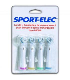 Lote 4 cepillos Higiene Salud y Belleza Sport Elec Lote de 4