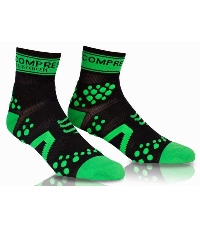 Compressport Pro Racing Socks V2 Run High Noir Vert