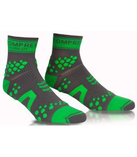 Compressport Pro Racing Socks V2 Trail High Gris Verde Compressport Calcetines Trail Running Zapatillas Trail Running