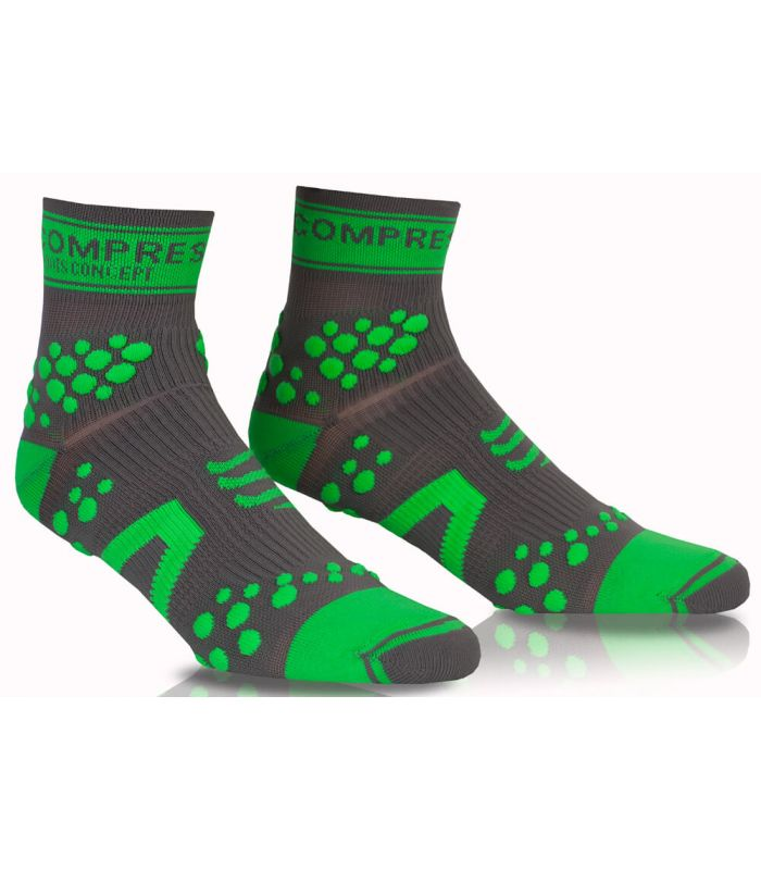 Compressport Pro Racing Socks V2 Trail High Gris Verde