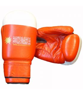 Boxing gloves BoxeoArea 1803 leather red