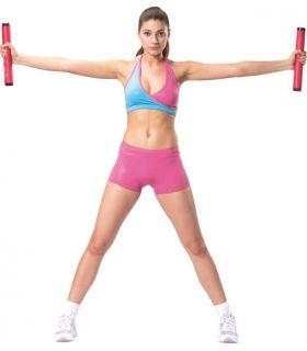 Barra gimnasia Van Allen Pesas - Tobilleras Lastradas Fitness Color: rojo
