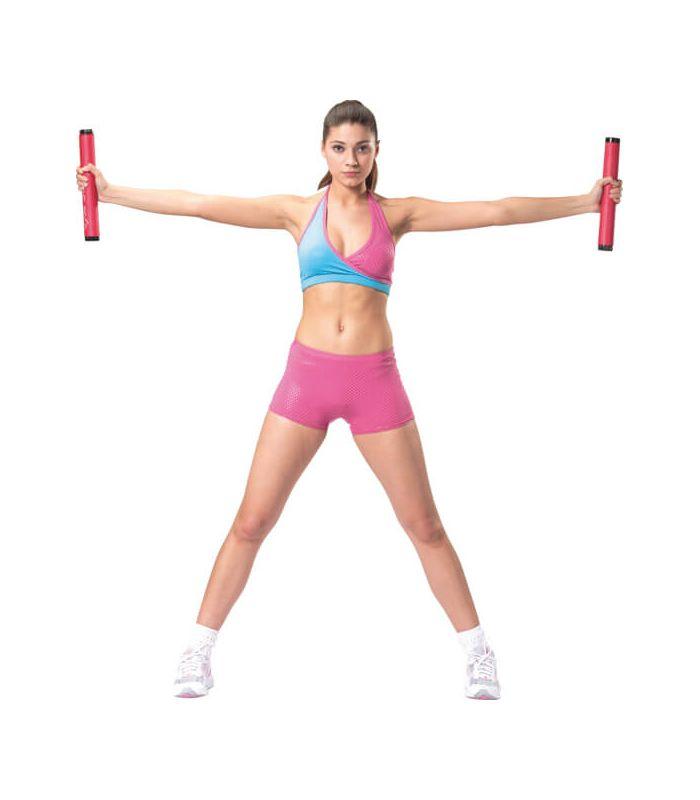 Pesas - Tobilleras Lastradas - Barra gimnasia rojo Fitness